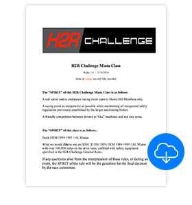 Download H2R Challenge Miata Specs